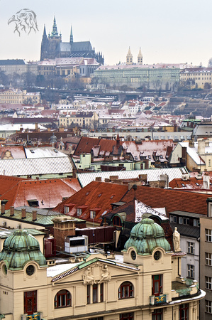 Prague City and St. Vitus Cathedral