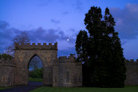 The gate and the moon, Ford Castle, Northumberland