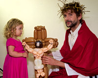 Simon Corfield as Jesus with Ruby and balloon Jesus 1