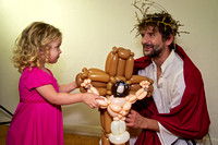 Simon Corfield as Jesus with Ruby and balloon Jesus 2