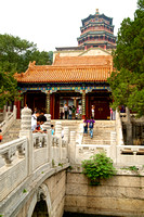 Bridge to the Hall of Dispelling Clouds and the Tower of Buddhist Incense, Summer Palace, Beijing