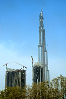 Burj Khalifa under construction, Dubai
