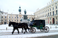 Hofburg Palace courtyard with horse drawn carriage, Vienna