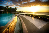 Infinity Pool at Sunset, Intercontinental Resort, Natadola Beach, Viti Levu, Fiji 2
