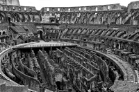 The Colosseum arena and hypogeum