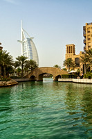 Madinat Jumeirah waterway with bridge and Burj Al Arab, Dubai 1