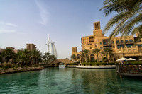 Madinat Jumeirah waterway with bridge and Burj Al Arab, Dubai 2