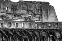 The Colosseum, walls, windows and arches